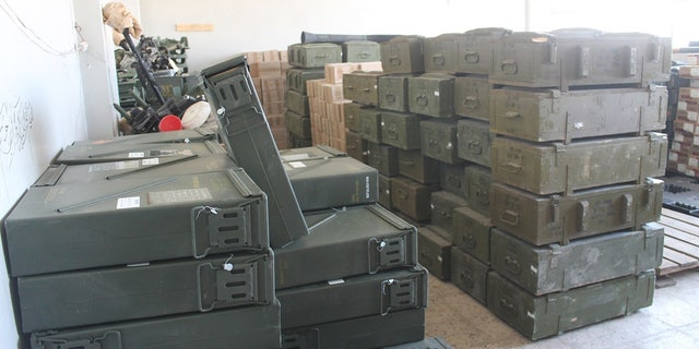 Abu Zayd's ammunition warehouse, believed to hold some American-issued items.