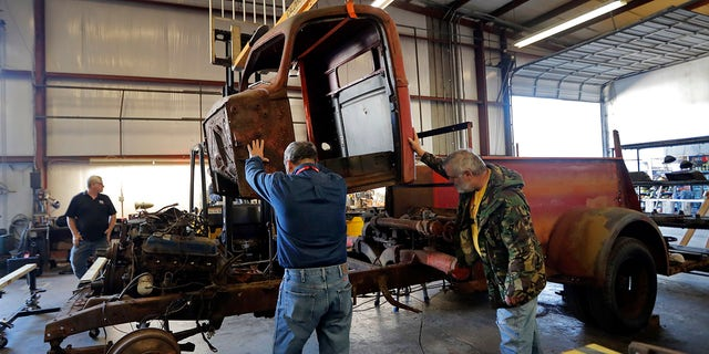Restoration specialists at the National World War II Museum hope to have this Ford-American LaFrance fire truck on display within three years.
