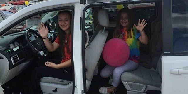 Haleigh and Callie Fullerton were snuggling and watching TV when they were killed when a car crashed into their home.