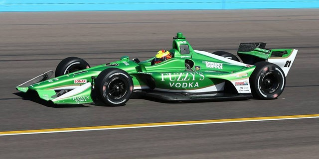 Patrick's Chevy-powered Indycar will be green like Spencer Pigot's seen here testing in Phoenix, but it'll be GoDaddy green.
