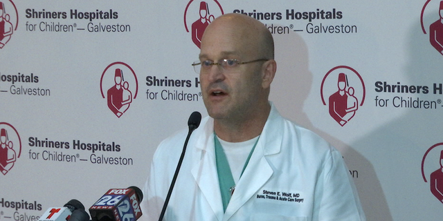 Dr. Steven Wolf, Chief of Staff at Shriners Galveston, said treatment for the children could take months, even years.
