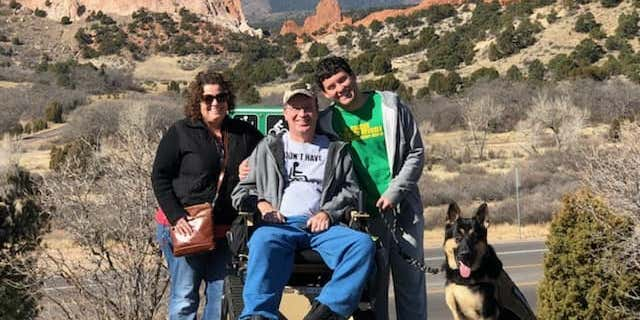 Lara and Tom Garey have been traveling with their son as part of Tom's bucket list.