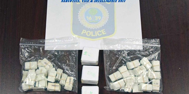 Heroin police say they found at Howell's home.