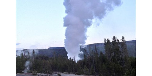 July 31, 2013: Steamboat Geyser, in Yellowstone National Park's Norris Geyser Basin in Wyoming, erupts - file photo.