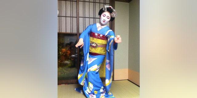 A maiko we met performing.