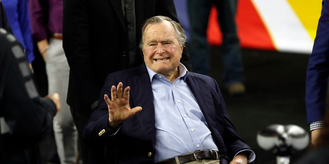 Former President George H. W. Bush is seen in April 2016.