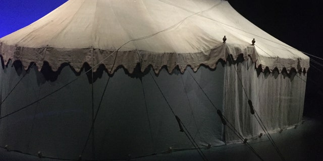 George Washington's slept in this tent on the battlefield. It also served as his headquarters.