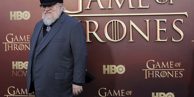 """Co-executive producer George R.R. Martin arrives for the season premiere of HBO's """"Game of Thrones"""" in San Francisco, California March 23, 2015. REUTERS/Robert Galbraith  - GF10000036232"""