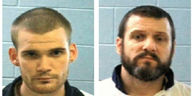 This combo of undated photos provided Tuesday, June 13, 2017, by the Georgia Department of Corrections shows inmate Ricky Dubose, left, and Donnie Russell Rowe.