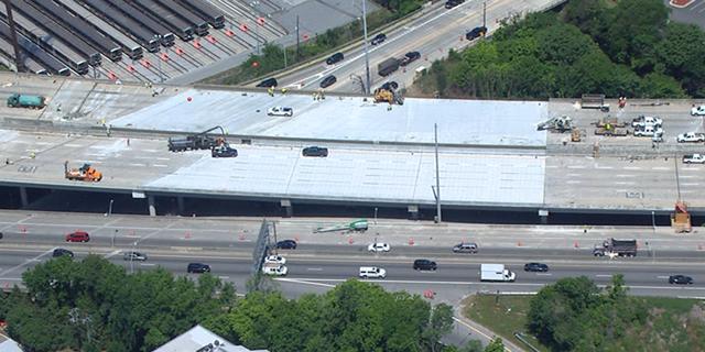 The rebuilt Interstate 85 overpass in Atlanta.