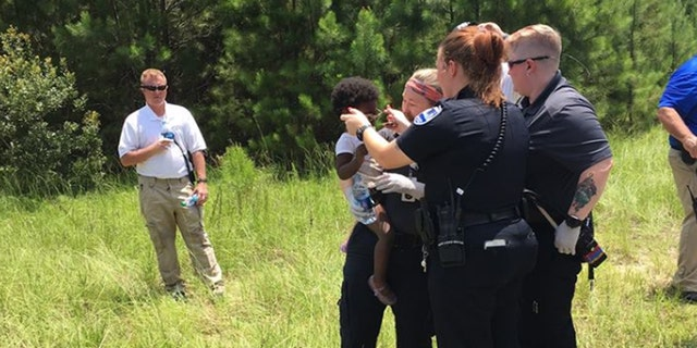 The girl was found in a wooded area five hours after she was reported missing.