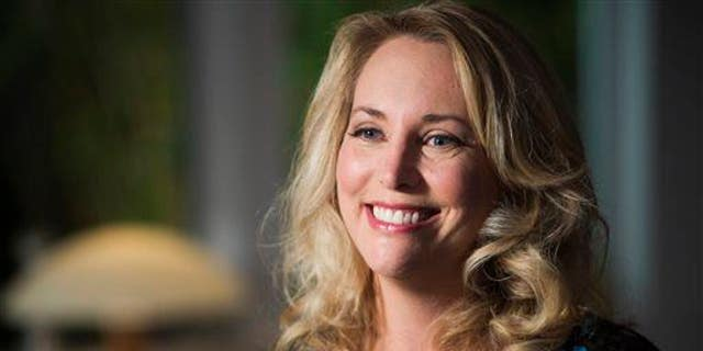 """Former United States CIA Operations Officer Valerie Plame Wilson is interviewed on the set of """"Makers: Women Who Make America,"""" filmed in Venice, Calif."""