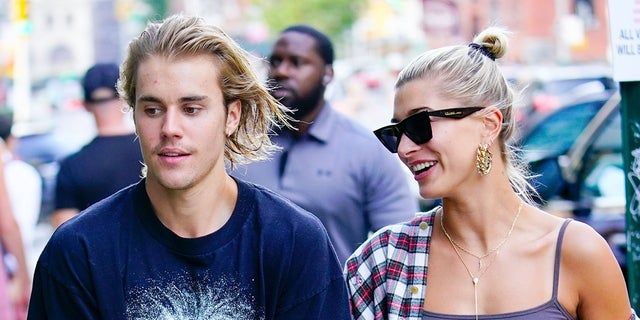 Justin Bieber and Hailey Baldwin show some PDA on Instagram in a new post on the singer's account.