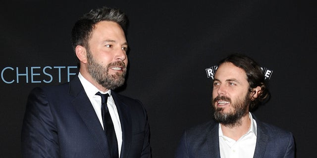 Casey Affleck (right) with his brother Ben Affleck.