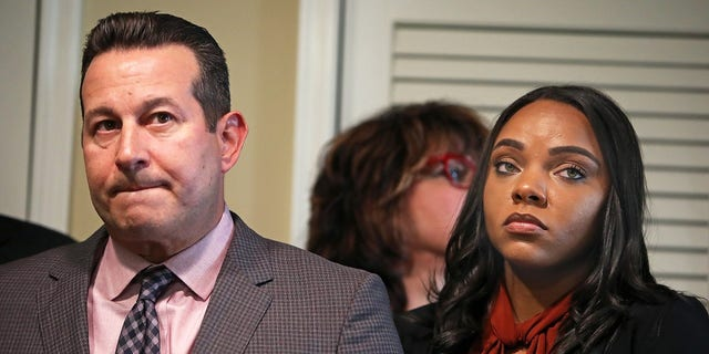 Aaron Hernandez penned three suicide letters before his death. He wrote one to his attorney Jose Baez, left, and his fiancee Shayanna Jenkins.