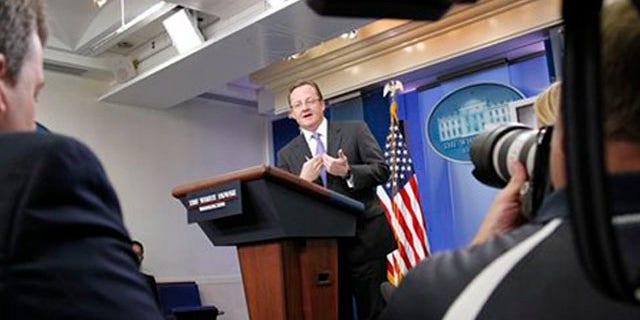 White House Press Secretary Robert Gibbs speaks at the daily press briefing in Washington July 26. (AP Photo)