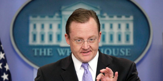 Dec. 13: White House Press Secretary Robert Gibbs gestures during his daily news briefing at the White House.