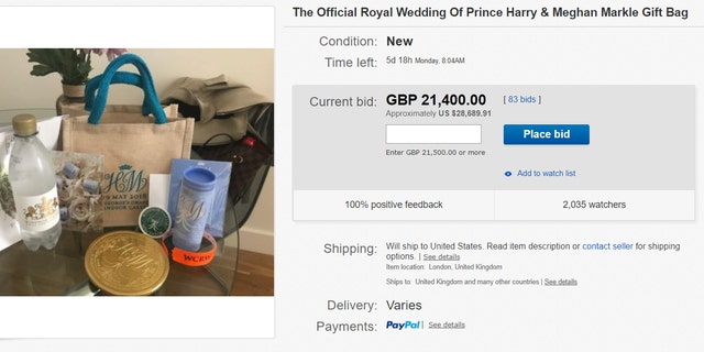 Official favors from the May 19 celebrations are being sold on eBay for serious sums.