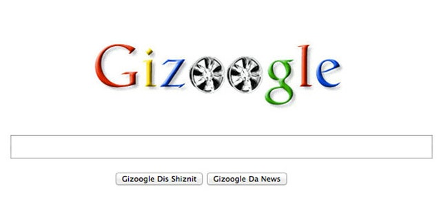 """A screenshot of the website for Gizoogle, which translates search results into """"the slanguage used by Snoop Dogg."""""""