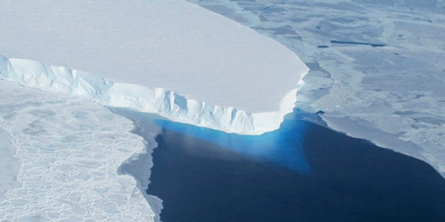 The Thwaites Glacier in Antarctica is seen in this undated NASA image. (Reuters/NASA/Handout via Reuters)