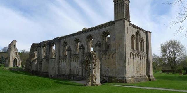 Glastonbury Abbey today.