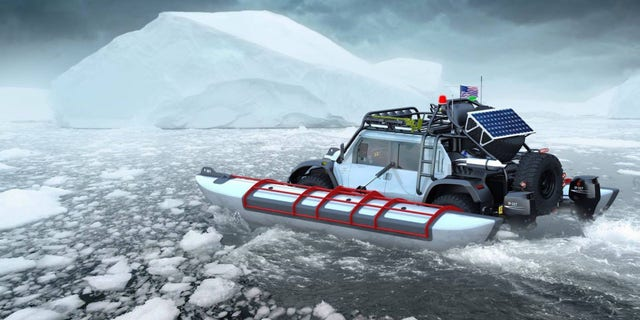 The company also plans to drive the Baja Boot to the top of the 22,615 Ojos de Salado volcano in the Andes mountains.