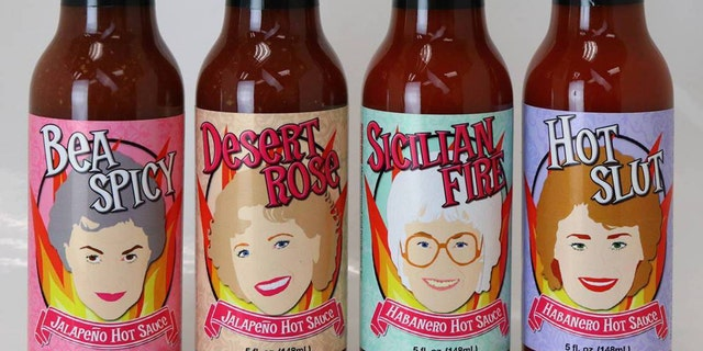 """""""The Golden Girls"""" fab four have been turned into some ultra-spicy hot sauces here to punch up bland meals."""