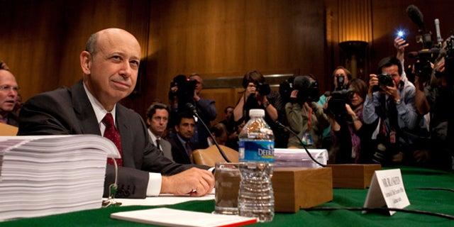 April 27: Goldman Sachs chairman and CEO Lloyd Blankfein testifies before the Senate on Capitol Hill.