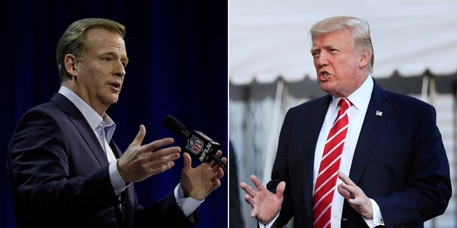NFL Commissioner Roger Goodell has been embroiled in a debate involving the national anthem that President Trump has gotten involved in.