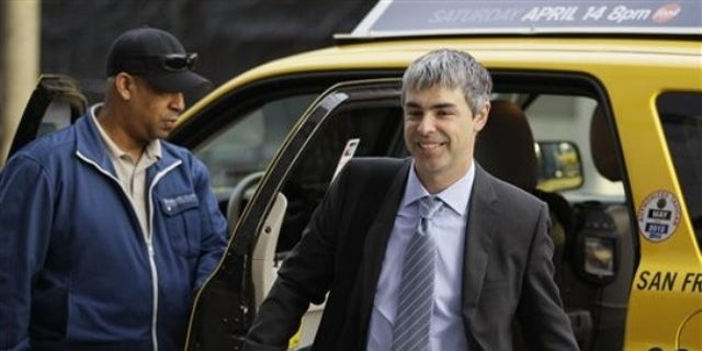 Google CEO Larry Page walks into a federal building in San Francisco, Wednesday, April 18, 2012. A federal jury ruled Wednesday that Google didn't infringe on Oracle's patents during the development of its popular Android platform.