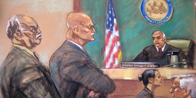 Dr. Kermit Gosnell, left, is shown in this courtroom artist sketch during his sentencing at Philadelphia Common Pleas Court in Philadelphia, Pennsylvania May 15, 2013.