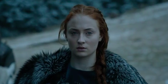 "Sophie Turner plays Sansa Stark on ""Game of Thrones."""