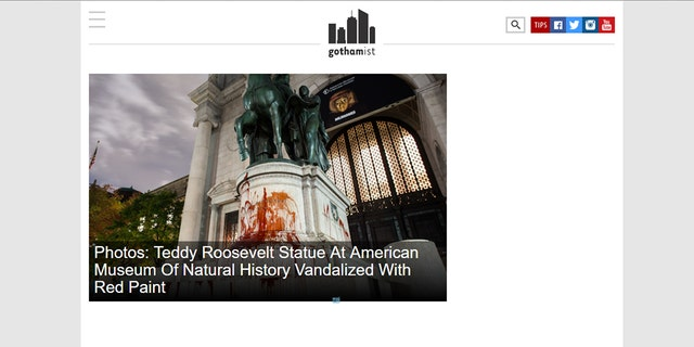 A screenshot of gothamist.com from last week.