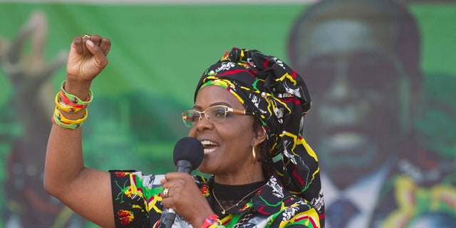"Grace Mugabe is Robert Mugabe's second wife. Critics call her ""Gucci Grace"" to reference her lavish shopping habits."
