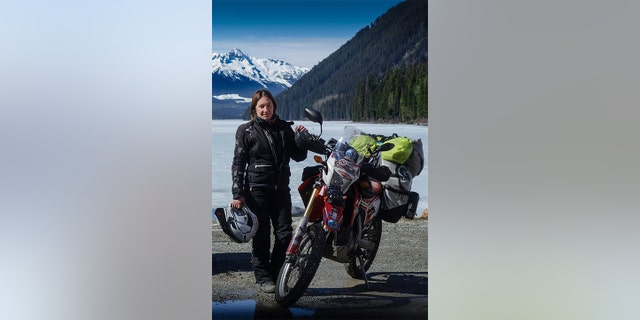Jeavons has now become the first Brit to lap the globe touching all seven continents on her trusty Honda CRF250L - nicknamed Rhonda the Honda.