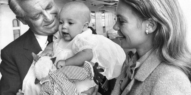 Cary Grant and Dyan Cannon with daughter Jennifer in 1966.