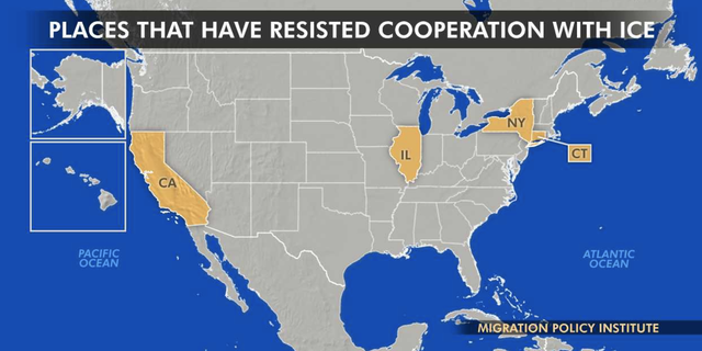 Cities in California, Illinois, New York, and Connecticut have demonstrated some resistance towards federal immigration authorities.