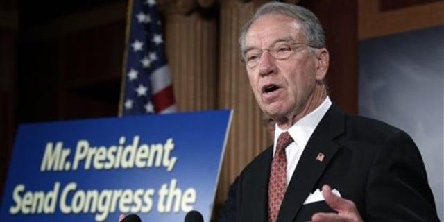 FILE: Sen. Charles Grassley speaks on Capitol Hill.