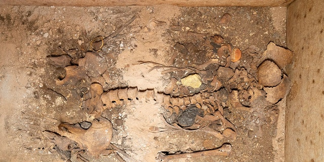 The newly discovered burial of Neko, a woman who lived 1,800 years ago. Credit: Thanos Kartsoglou/Greek Culture Ministry
