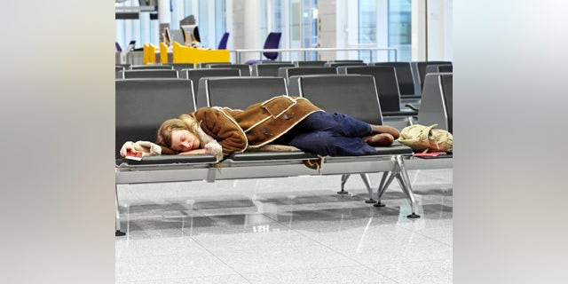 Passenger spending a night at airport after flight cancelation