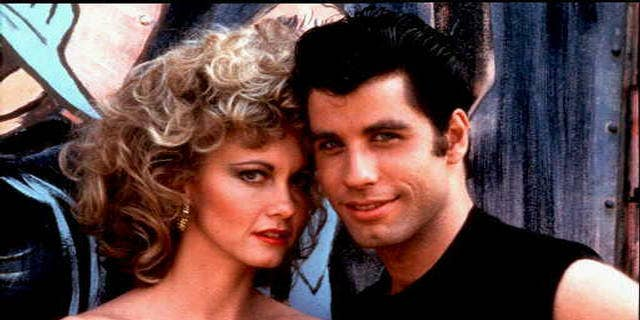 "Olivia Newton-John and John Travolta in ""Grease."" — AP"