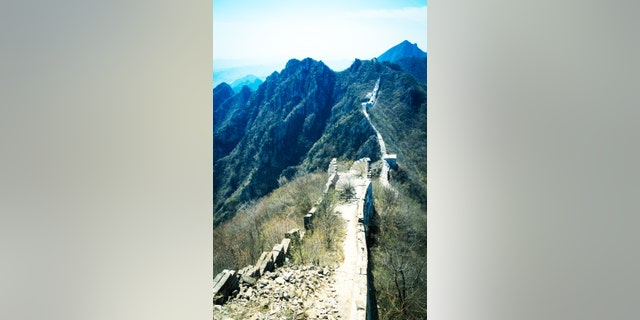 The Great Wall at Jiankou is known for its steep mountain peaks.