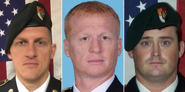 Staff Sgt. Bryan Black, 35, Staff Sgt. Jeremiah Johnson, 39, and Staff Sgt. Dustin Wright, 29.