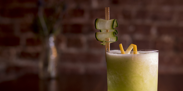 Complete with a cucumber ribbon, Green With Envy might be St. Patrick's Day most coveted cocktail.