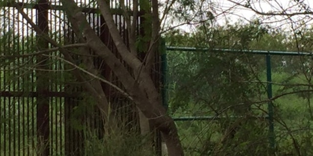Border fence near Brownsville, Texas.