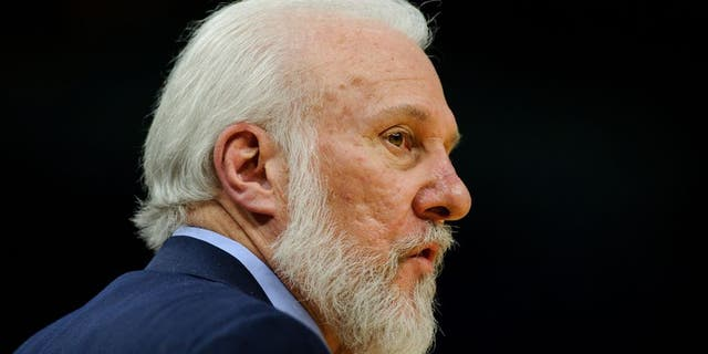 MINNEAPOLIS, MN - MARCH 21: Head coach Gregg Popovich of the San Antonio Spurs looks on during the fourth quarter of the game against the Minnesota Timberwolves on March 21, 2017 at the Target Center in Minneapolis, Minnesota. The Spurs defeated the Timberwolves 100-93. NOTE TO USER: User expressly acknowledges and agrees that, by downloading and or using this Photograph, user is consenting to the terms and conditions of the Getty Images License Agreement. (Photo by Hannah Foslien/Getty Images)
