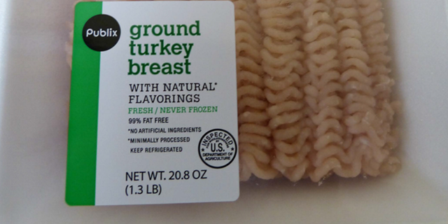 The ground turkey was recalled on Monday after metal shavings were found in a package in September.