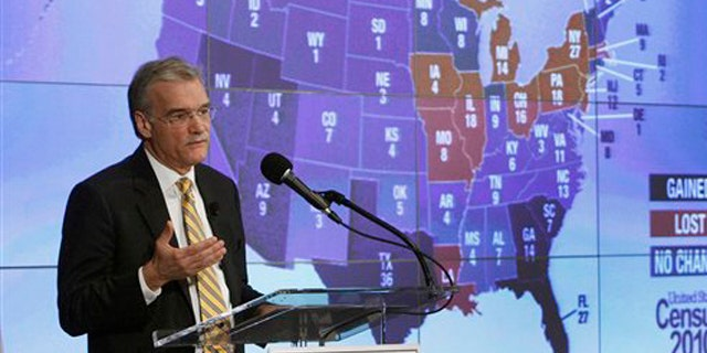 Census Director Robert Groves announces results for the 2010 U.S. Census at the National Press Club Dec. 21 in Washington.