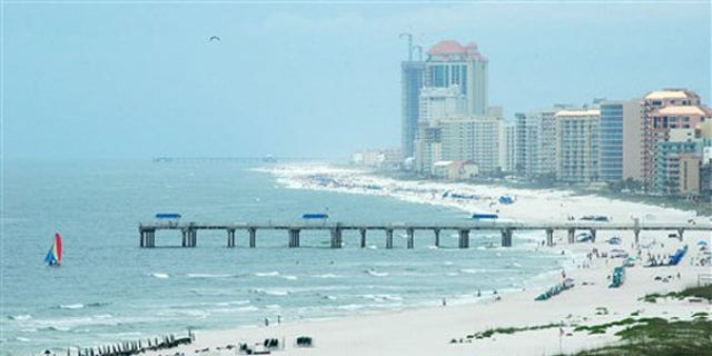 Shown here is the shoreline of Orange Beach, Ala., on June 3, an area potentially vulnerable to the BP oil spill. (AP Photo)