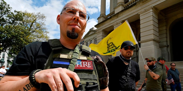 An estimated 160 pro-gun supporters participated in a gun-rights rally at the Atlanta statehouse on Saturday.